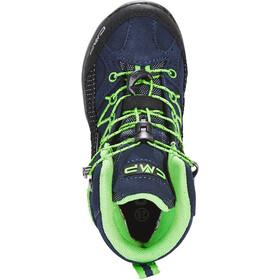 CMP Campagnolo Rigel WP Chaussures de trekking mi-hautes Enfant, black blue/gecko